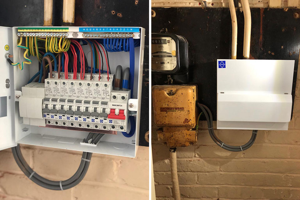 Consumer unit upgrade Salisbury